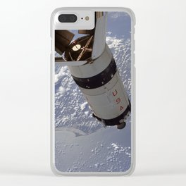 Apollo 7 - Saturn V over Cape Canaveral Clear iPhone Case