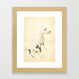 Lucy - Chinese Crested Framed Art Print