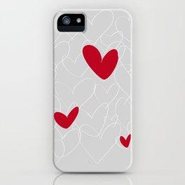 wild hearts grey iPhone Case
