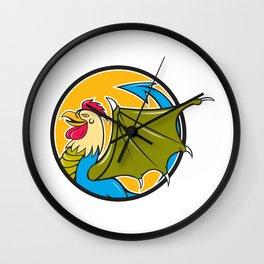Basilisk Bat Wing Circle Cartoon Wall Clock