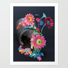 Candi(e)d Watch, Eyed Daisies and Mushrooms Art Print