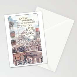 Daily Activities Stationery Cards