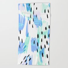 Addie - bold abstract - bright blue Beach Towel