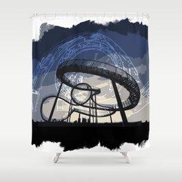 Roller Coaster Shower Curtain