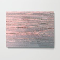 Rustic pastel weathered wood Metal Print