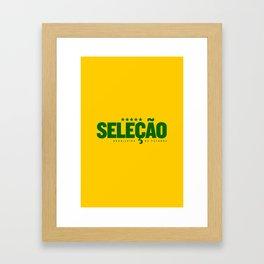 Brasil (World Cup 2018) Framed Art Print