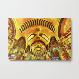 Spice Bazaar Istanbul Van gogh Metal Print