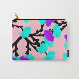 Watercolor Roses Aqua Violet Carry-All Pouch