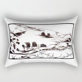 Hungry Giraffe Rectangular Pillow