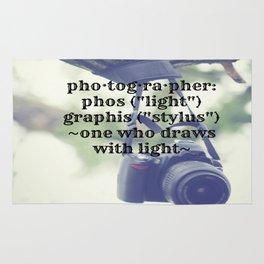 Photographer Definition Rug