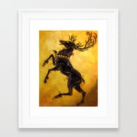 stag Framed Art Prints featuring Stag by Narwen