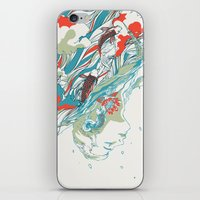 huebucket iPhone & iPod Skins featuring Colours In The Sky by Huebucket