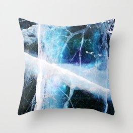Frost Void Throw Pillow