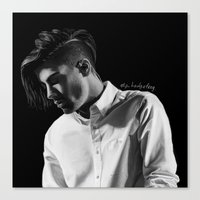 zayn Canvas Prints featuring zayn by otp-hedgefrog