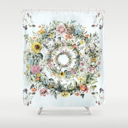 Circle of Life in  Blue Shower Curtain