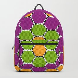 Vibrant honeycomb pattern with brilliant colours Backpack