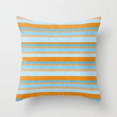 Something Fishy Stripes. Throw Pillow