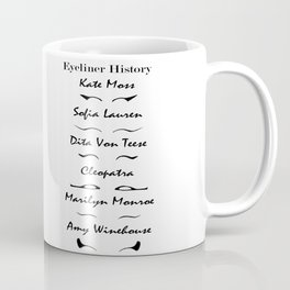 Eyeliner stlye history makeup fashion illustration Coffee Mug