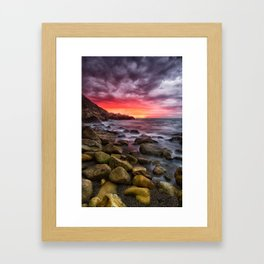 White Rock Beach - Killiney Framed Art Print