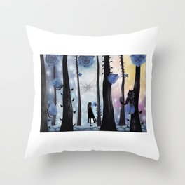 When she was here 25.1.2017 Throw Pillow