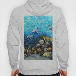 Take Me There - seascape with dolphins Hoody