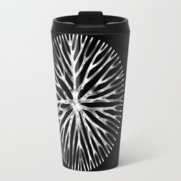GEOMETRIC NATURE: LILY b/w Travel Mug