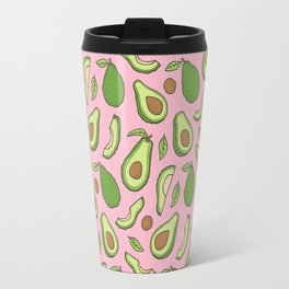 Avocado on Pink Travel Mug