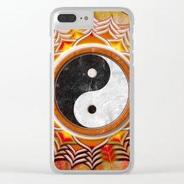 Yin Yang - Healing Of The Orange Chakra Clear iPhone Case