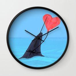 Original Shark Love Design Wall Clock