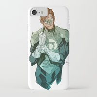 green lantern iPhone & iPod Cases featuring Green Lantern by Bruno Oliveira