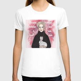 girl and rabbit T-shirt