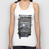 military Tank Tops featuring Vintage Military Radio  by TomConwayArt