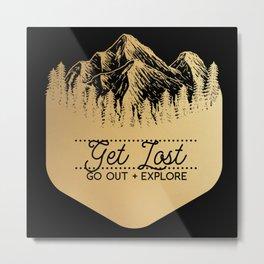 Get Lost (Gold) Metal Print