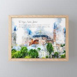 Hagia Sophia Framed Mini Art Print