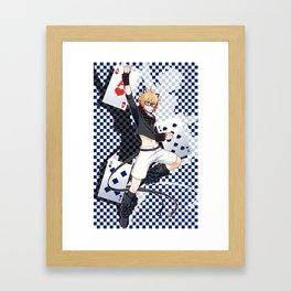 Ivy Tomcat (blue) Framed Art Print