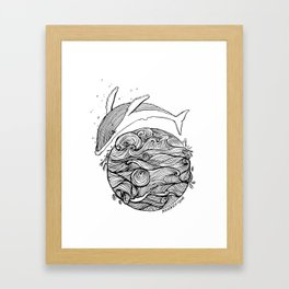 Crying whale Framed Art Print