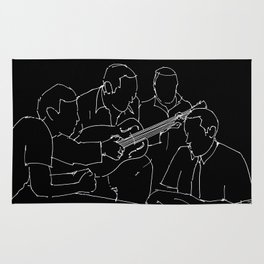Wes and Duke jam session Rug