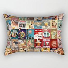 Vintage Beer Ads Rectangular Pillow