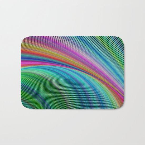 Colorful distortion Bath Mat