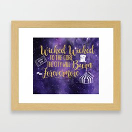 Daughter of the Burning City - Wicked Wicked Framed Art Print