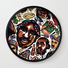 Eztaughtme Collage Wall Clock