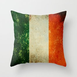 Grunge Irish Flag / Irish Tricolour Throw Pillow