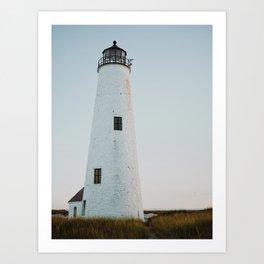 Nantucket Great Point Lighthouse 2  Art Print