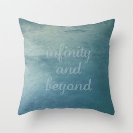 Infinity [With Text] Throw Pillow