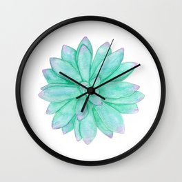 Pachyveria - Green and Red Succulent Wall Clock