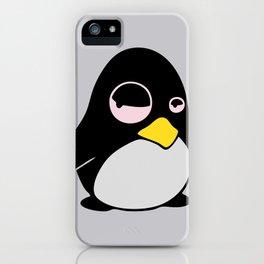 LAZY LINUX TUX PENGUIN iPhone Case