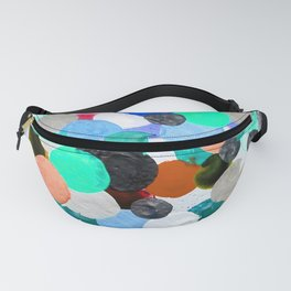 Aqua Rainbow Paint Drops Fanny Pack