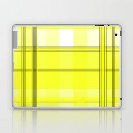 Yellow White and Gray Plaid Laptop & iPad Skin
