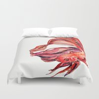 street fighter Duvet Covers featuring Fighter by Gabrielle Agius