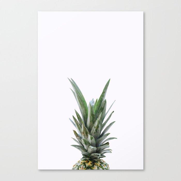 White Pineapple Canvas Print